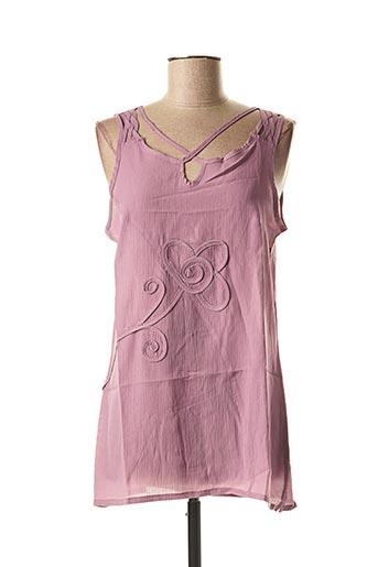 Tunique manches courtes violet L33 pour femme