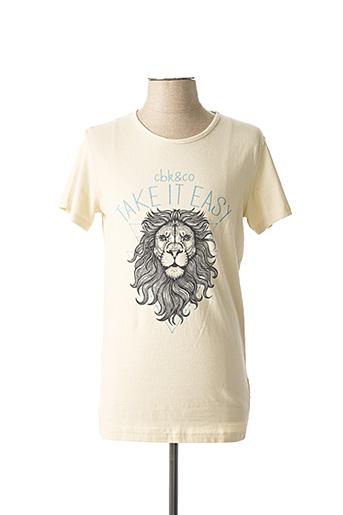 T-shirt manches courtes beige CBK pour homme