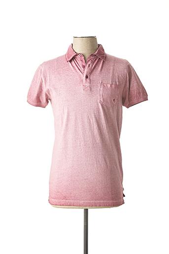 Polo manches courtes rose CBK pour homme