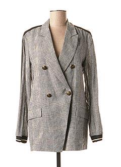 Veste casual gris LAUREN VIDAL pour femme