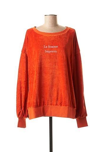 Sweat-shirt orange IMPREVU pour femme
