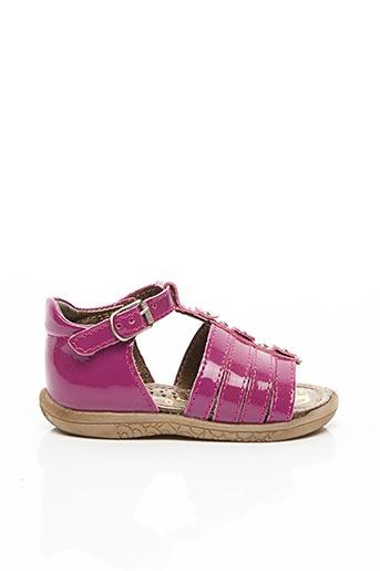 Sandales/Nu pieds rose NOËL pour fille