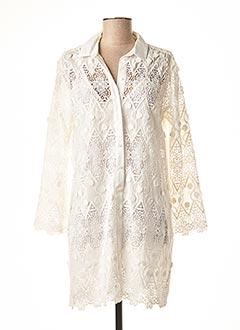 Robe mi-longue blanc VALERIE KHALFON pour femme