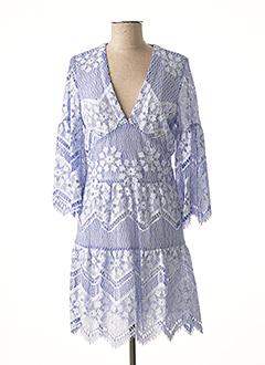 Robe courte bleu VALERIE KHALFON pour femme