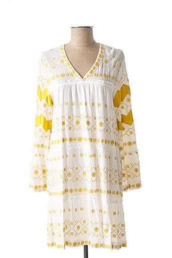 Robe mi-longue jaune VALERIE KHALFON pour femme