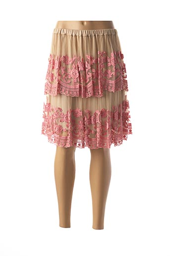Jupe mi-longue rose VALERIE KHALFON pour femme