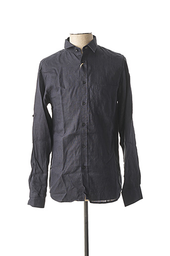 Chemise manches longues bleu G38 pour homme