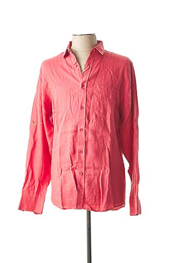 Chemise manches longues rouge G38 pour homme