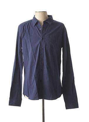 Chemise manches longues bleu CROSSBY pour homme