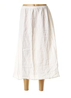 Jupe longue blanc BARBARA LANG pour femme