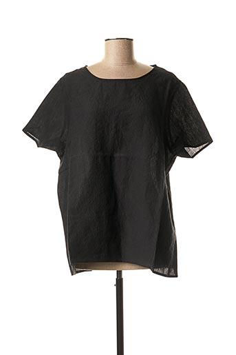 Blouse manches courtes noir APUNTOB pour femme