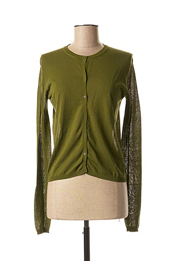 Gilet manches longues vert APUNTOB pour femme