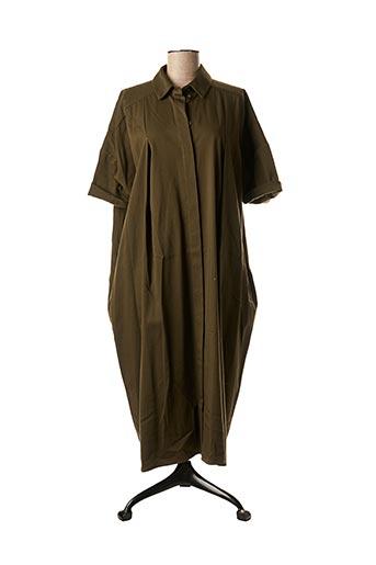 Robe mi-longue vert GRAND MORIN pour femme