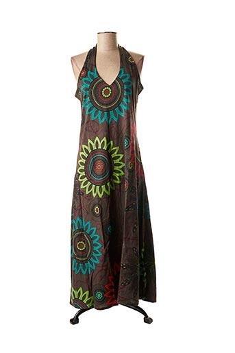Robe longue marron DIPAWALI pour femme