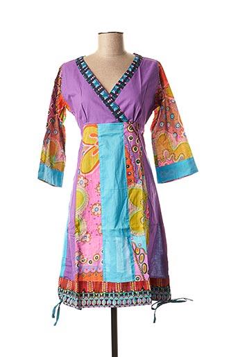 Robe mi-longue violet DIPAWALI pour femme