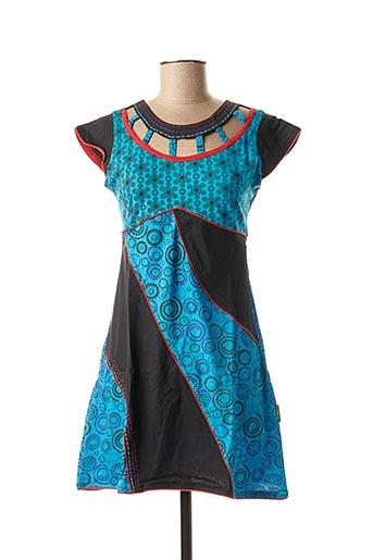 Tunique manches courtes bleu DIPAWALI pour femme