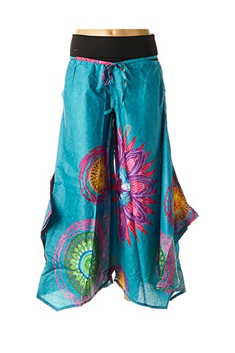 Pantalon casual bleu DIPAWALI pour femme