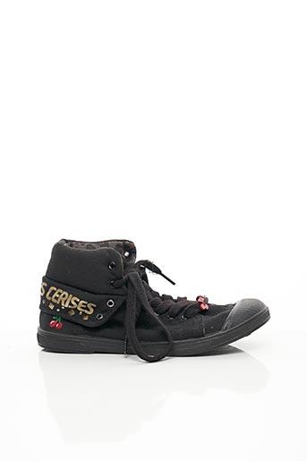 Baskets noir LE TEMPS DES CERISES pour fille