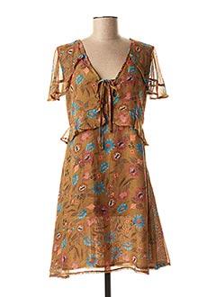 Robe courte marron MOLLY BRACKEN pour femme