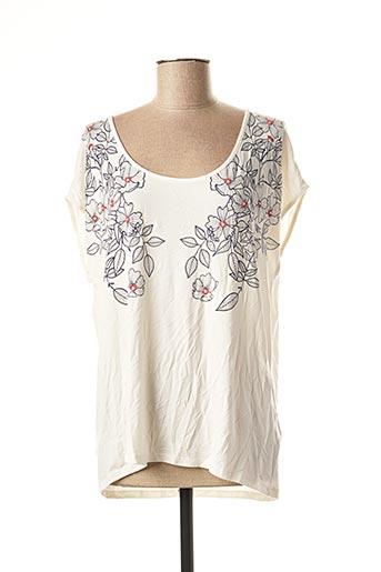 T-shirt manches courtes beige ET COMPAGNIE pour femme