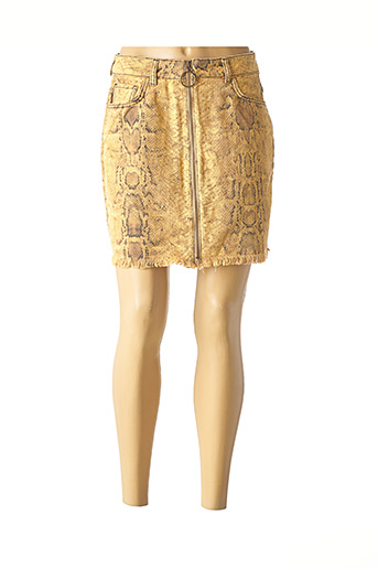 Jupe courte jaune BSB pour femme