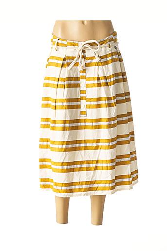 Jupe mi-longue jaune BSB pour femme