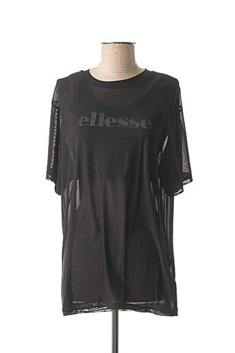 T-shirt manches courtes noir ELLESSE pour femme