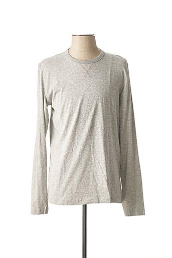 T-shirt manches longues gris BRAVE SOUL pour homme