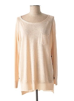 Pull col rond rose CHARLISE pour femme