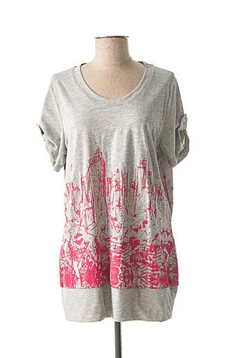 T-shirt manches courtes gris ELENA MIRO pour femme
