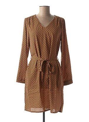 Robe courte orange BY ONE pour femme