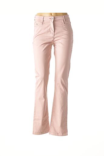Pantalon casual rose JULIE GUERLANDE pour femme
