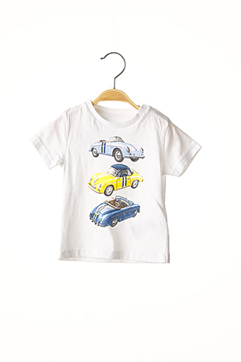 T-shirt manches courtes blanc MAYORAL pour garçon