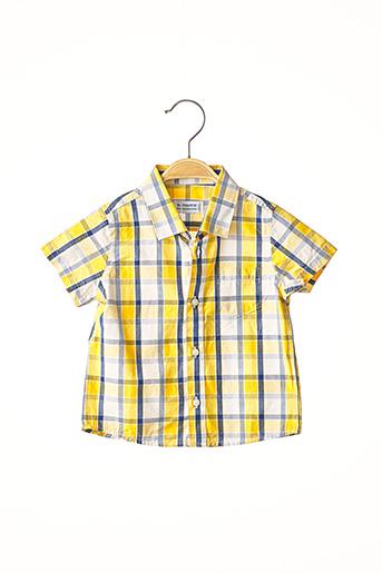 Chemise manches courtes jaune MAYORAL pour garçon