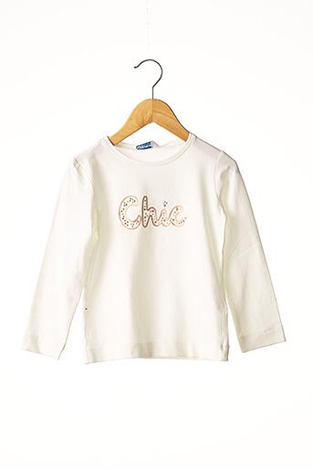 T-shirt manches longues beige MAYORAL pour fille
