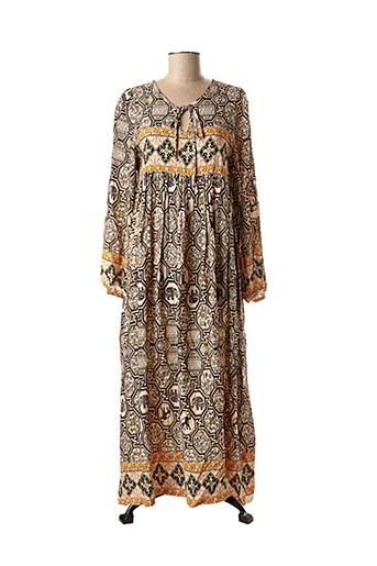Robe longue orange ELISSA pour femme