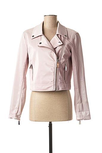 Veste simili cuir rose GUESS pour femme