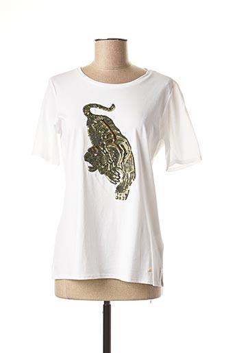 T-shirt manches courtes blanc BRAX pour femme