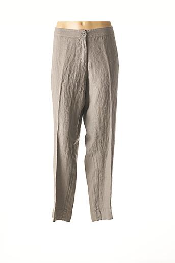 Pantalon casual gris ELENA MIRO pour femme