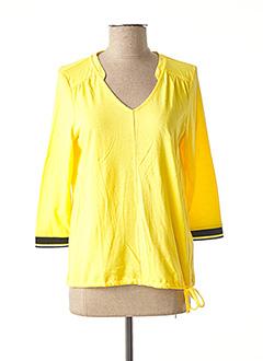 T-shirt manches longues jaune STREET ONE pour femme