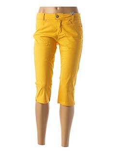 Corsaire jaune STREET ONE pour femme