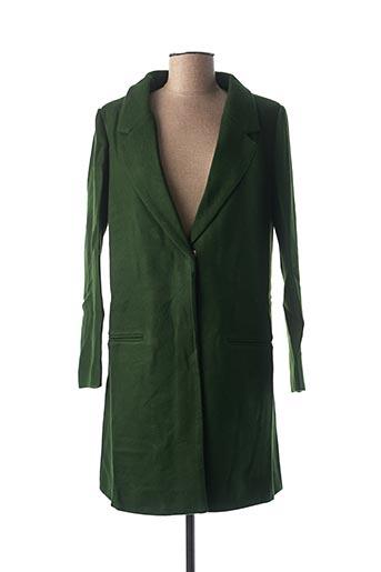 Manteau long vert DAPHNEA pour femme
