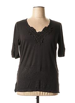 T-shirt manches courtes noir BE THE QUEEN pour femme