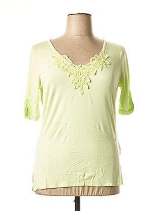 T-shirt manches courtes vert BE THE QUEEN pour femme