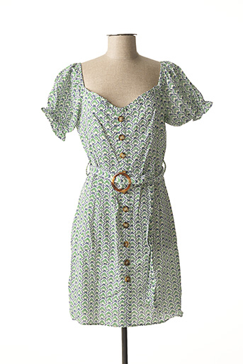 Robe courte vert BISCOTE pour femme