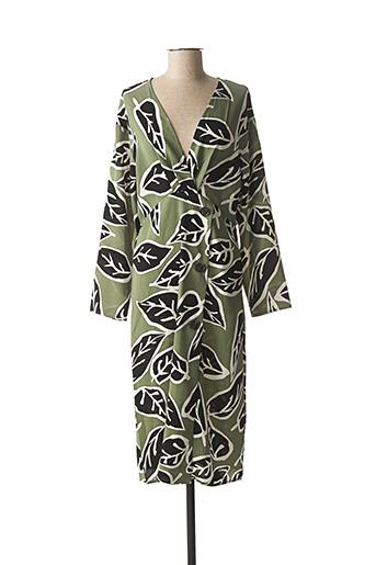 Robe mi-longue vert BISCOTE pour femme