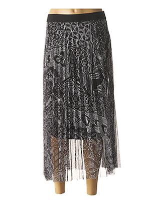 Jupe mi-longue noir DESIGUAL pour femme