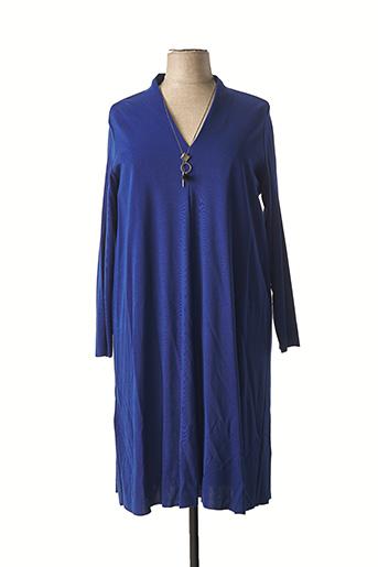 Robe mi-longue bleu ELENA MIRO pour femme