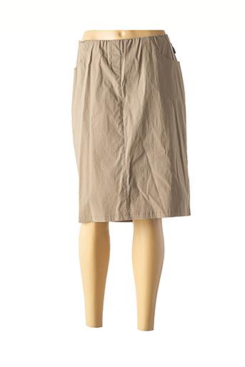 Jupe mi-longue beige ADELINA BY SCHEITER pour femme