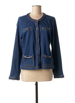 Veste casual bleu FELINO pour femme